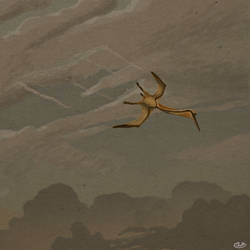 Quetzalcoatlus Pierces a Lonely Sky