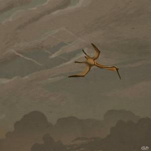 Quetzalcoatlus Pierces a Lonely Sky