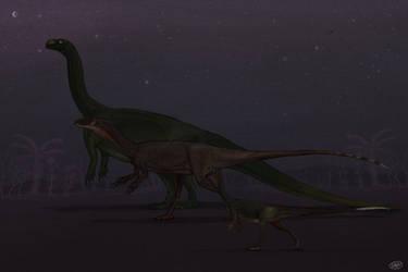 Mojave Desert Dinosaur Slab