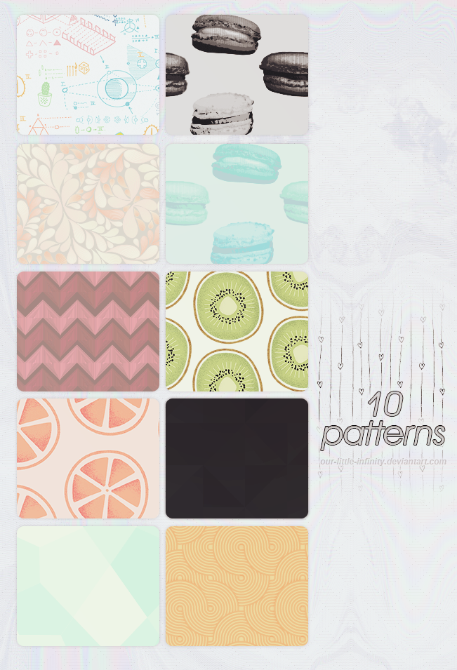 10 Patterns by our-little-infinity