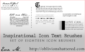 Icon Text Brushes by evarocksit