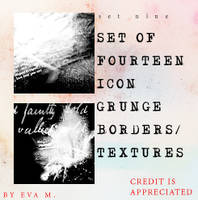 Icon Text Borders by evarocksit