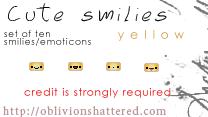 Cute Smiles Yellow by evarocksit
