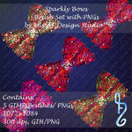 Sparkly Bows Brush Set with PNGs Included