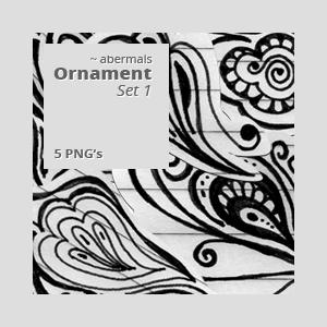 PNG: Ornament Set1 by abermals