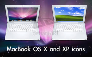 MacBook OS X and XP icons