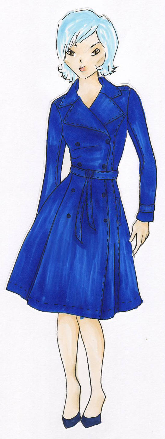 Sketch for Trenchcoat by nanaferret
