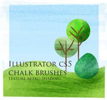 Chalk texture brushes- Illustrator by Alfatantra
