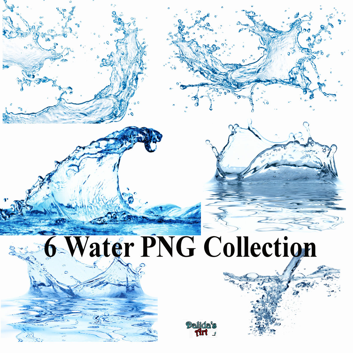 6 Water Collection PNG by makiskan