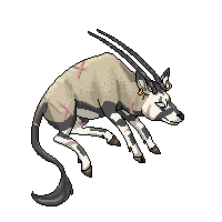 Floaty Pixel Iben the Gemsbok