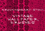 vintage wallpaper brushes