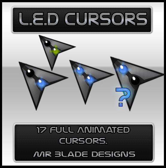 L.E.D Cursors by Mr-Blade