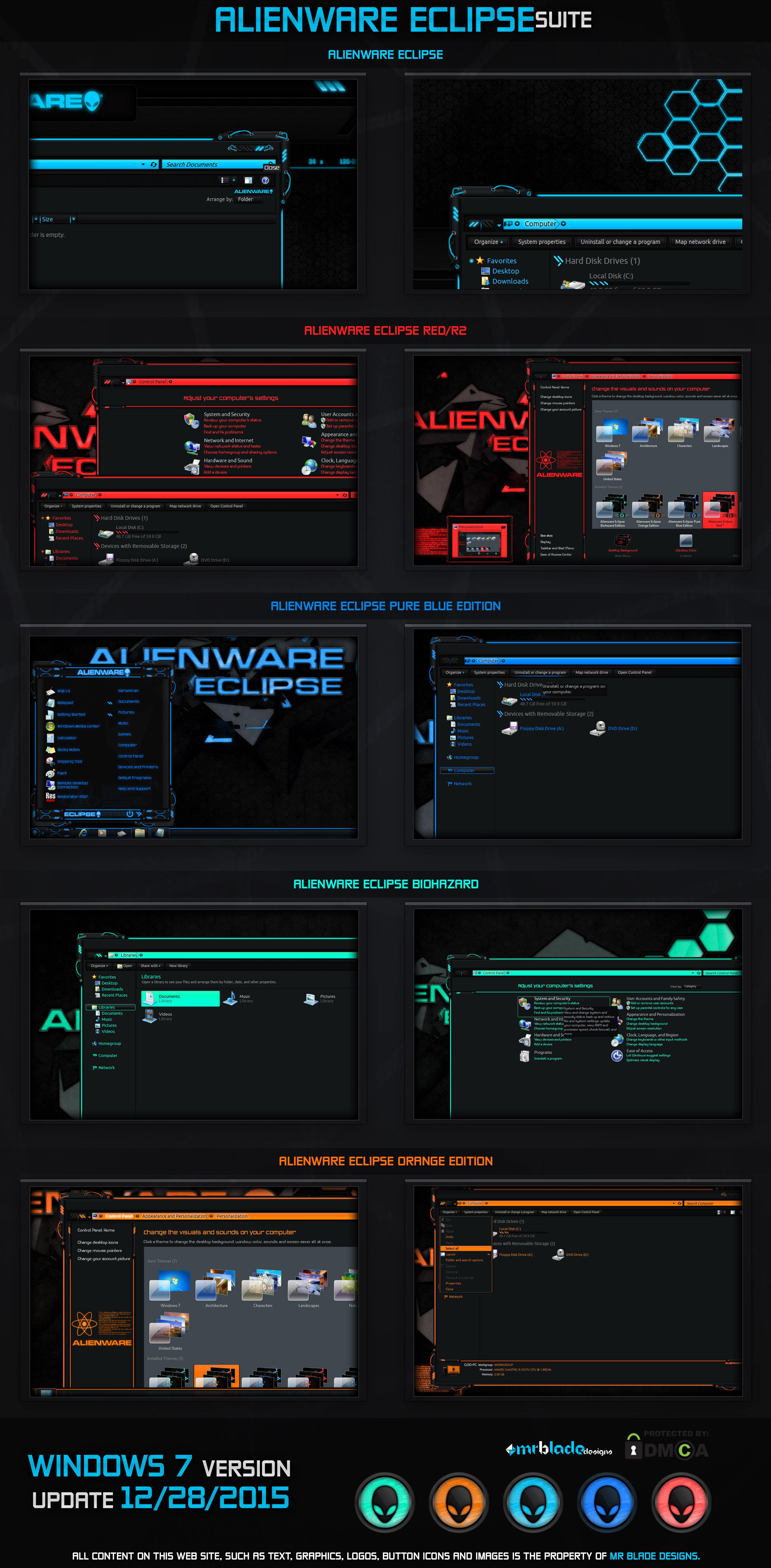 Alienware Eclipse Win7 by Mr-Blade