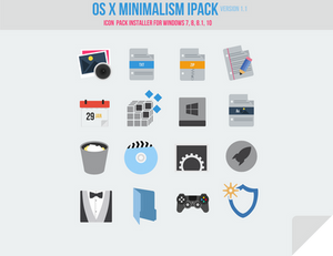 OS X Minimalism iPack (Icon Pack Installer)