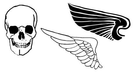 Skull and Wings brushes by webfoe