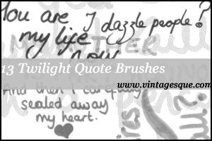 Handwritten Twilight Quotes by crystalsmile