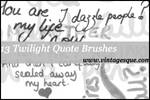 Handwritten Twilight Quotes