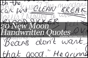 New Moon Handwritten Brushes by crystalsmile