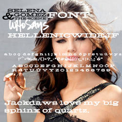 Selena Gomez The Scene - Who Says Font by Photo7Girl