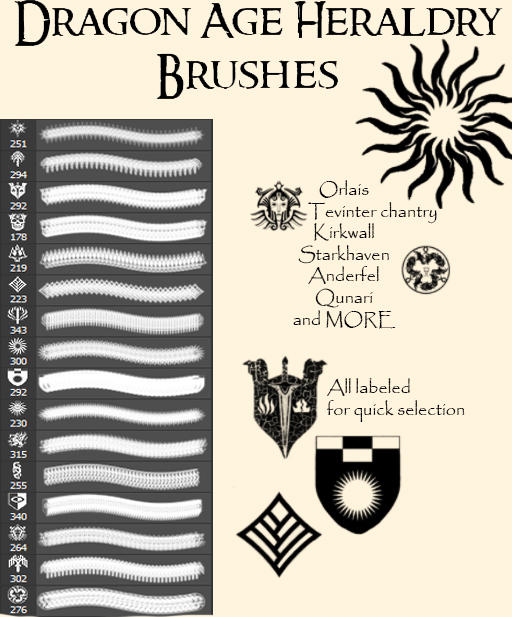 Dragon Age Heraldry Brushes