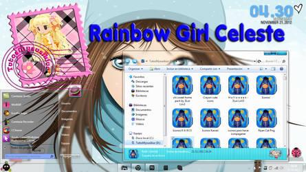 TEMA WINDOWS 7 Rainbow Girl Celeste TutosMysusikiu