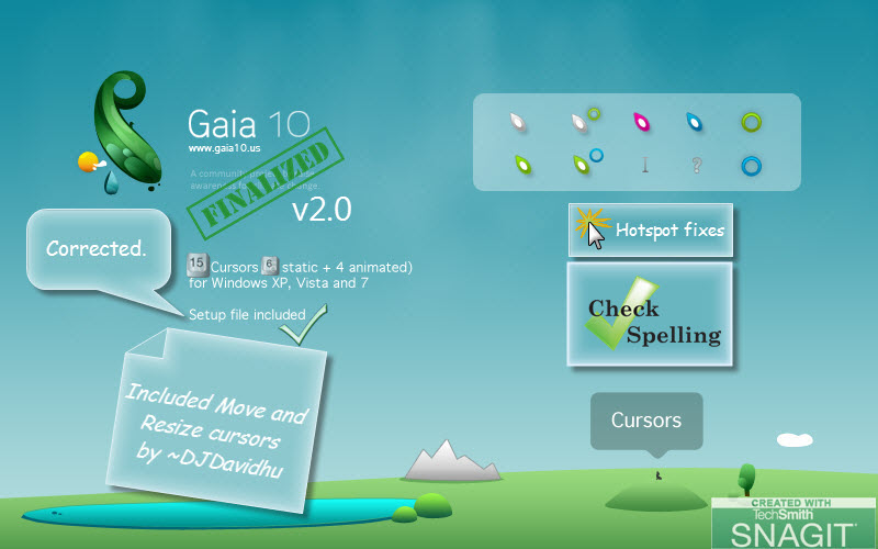 Gaia10 Cursors are FINALIZED 2 by DJDavid98