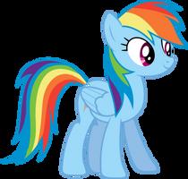 Rainbow Dash standing (S03E07) by DJDavid98