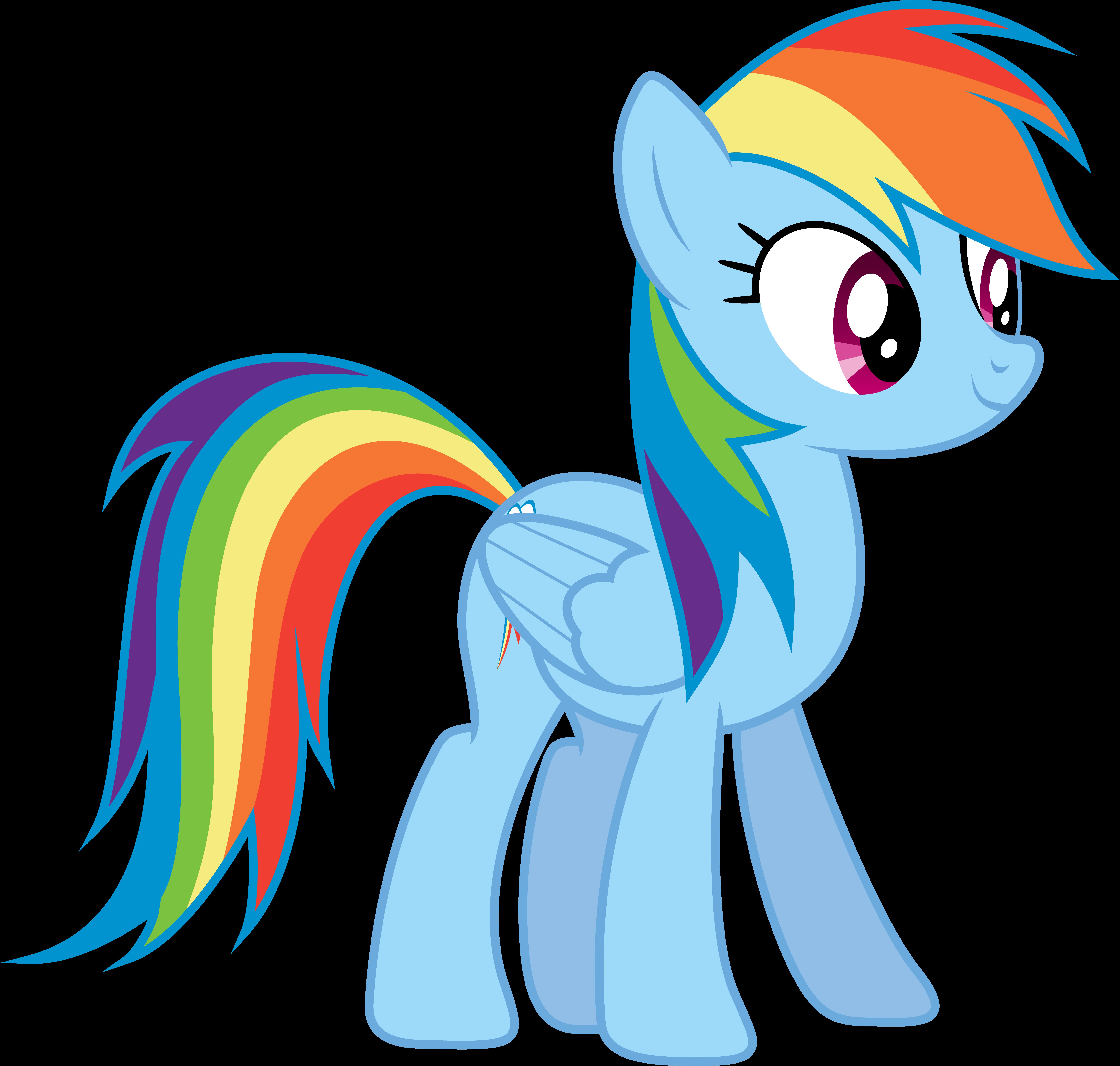 Rainbow Dashs Transformation WIP 01 by StarDragon77 on