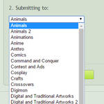 'Submit to Groups' folder name sorter UserScript by DJDavid98