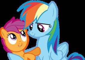 Dashie hugging Scoots (S03E06) by DJDavid98