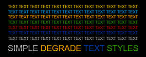 Simple Degrade Text Styles