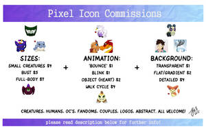 Pixel Icon Commissions [OPEN] by AbnormallyNice