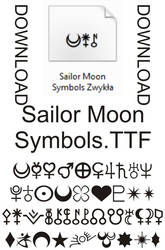 Sailor Moon Symbols Font Download - READ LICENSE