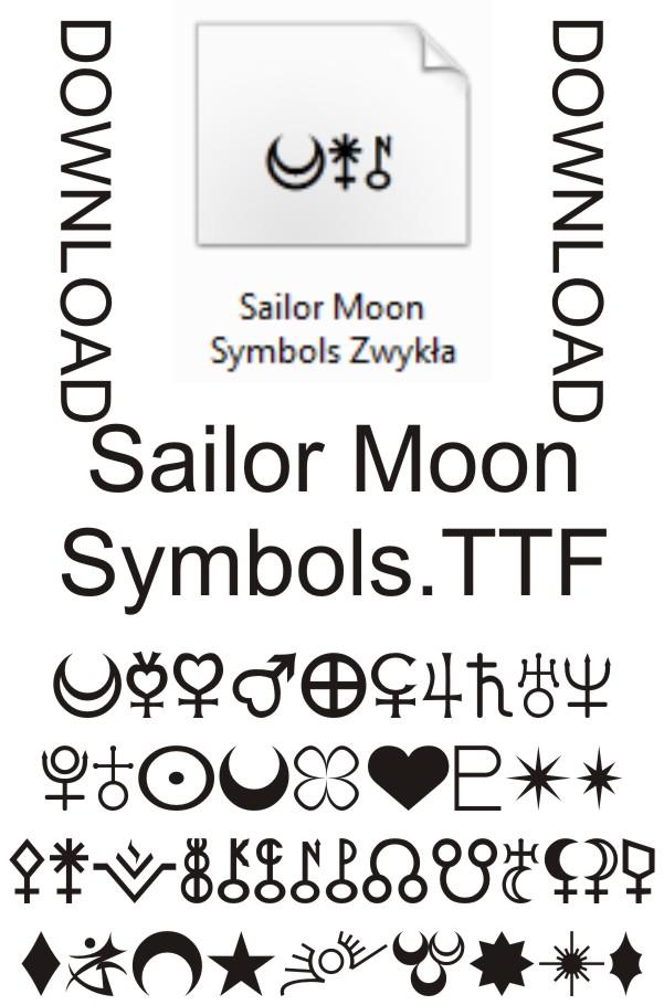 Sailor Moon Symbols Font Download Read License By
