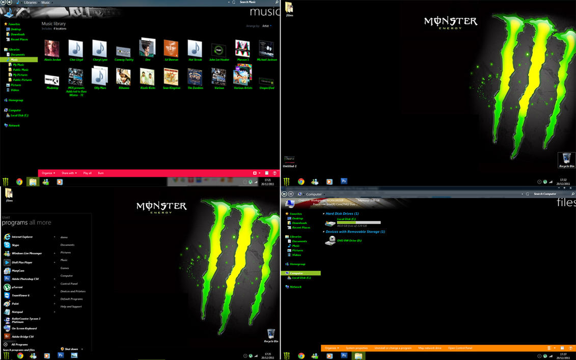 Monster energy windows 7 by damochavvy2012