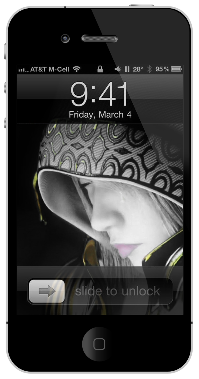 Girl iPhone 4 & 3GS Wallpapers
