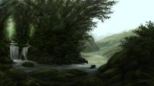Jungle waterfall 3 of 3
