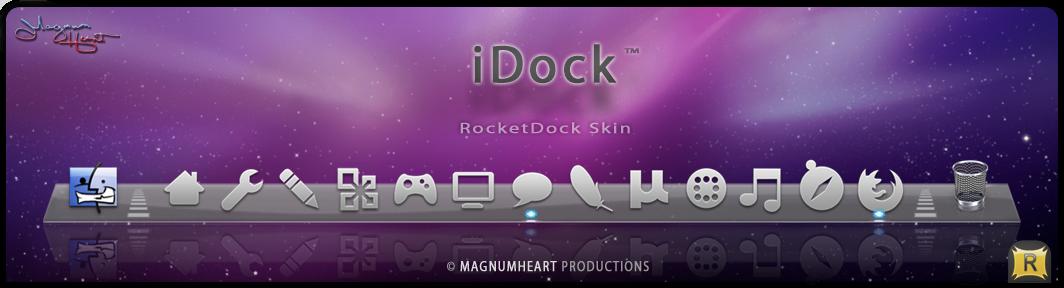 MacOSX RocketDock Skin : iDock