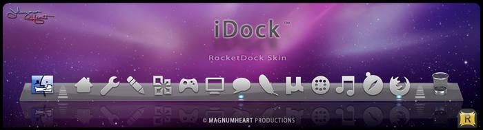MacOSX RocketDock Skin : iDock by MAGNUMHEARTED