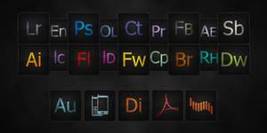 Dark Adobe icons
