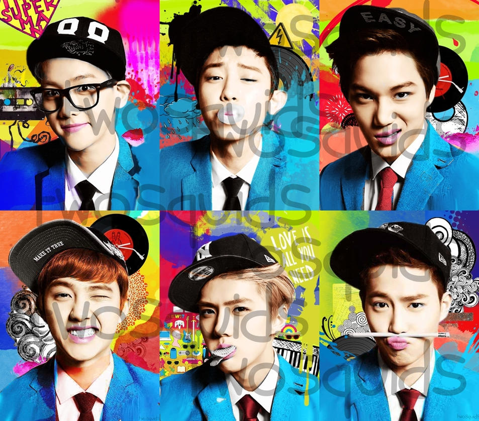 EXO-K XOXO Edited Teaser Pic by twosquids on DeviantArt