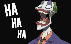 Joker laughing animation
