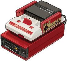 Pixelation - Famicom Disk Drive by VoxAndrews