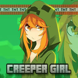 Creeper Girl Puzzle Game