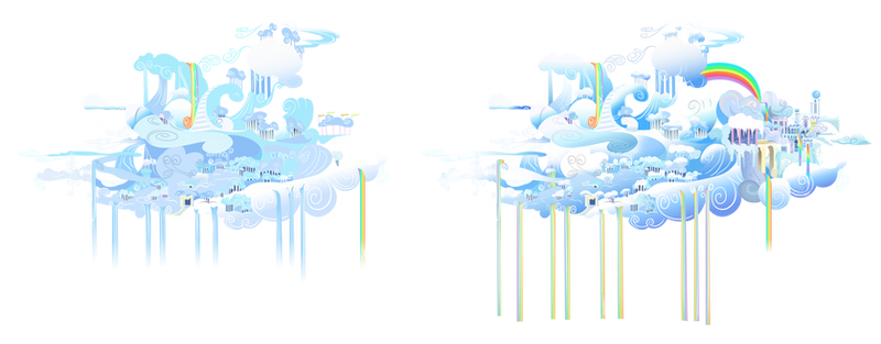 Cloudsdale Summer and Winter Vectors