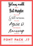 //. Font pack 17 by WskZ
