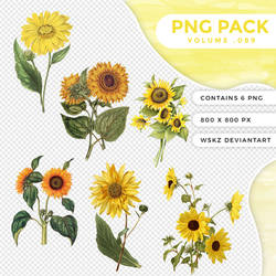 //. Png pack 89 - Sunflowers