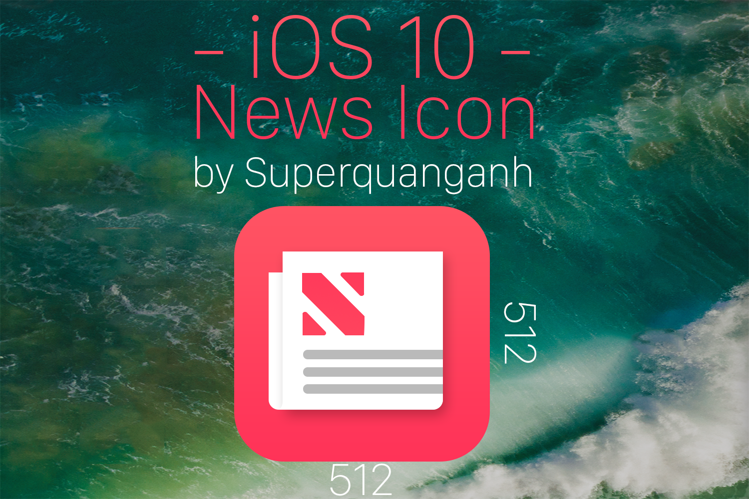 iOS 10 News Icon by Superquanganh