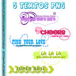 Pack 5 Textos Png
