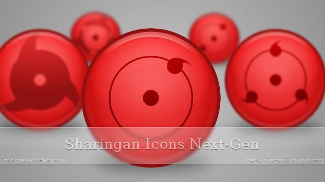 Sharingan Icons Next-Gen by Kshegzyaj